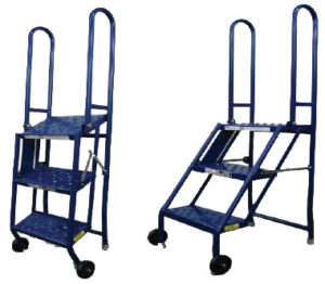 Folding Rolling Step Stand Tri Arc Rolling Step Stand