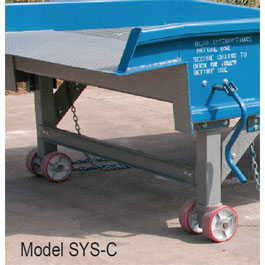 Steel Yard Ramps with Casters