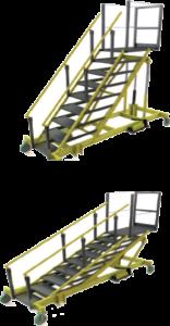 Adjustable Height Mobile Ladder Rolling Ladders