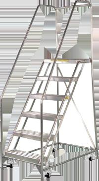 Deep Top Aluminum Rolling Ladder