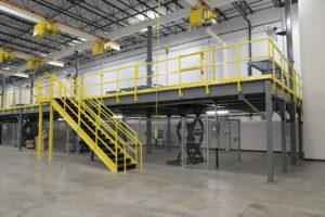 Mezzanines Material Handling Systems | Warehouse Mezzanine Stairways