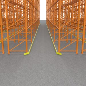 Contact Bluff Manufacturing for Warehouse Guide Rails to protect your shelving, call us today at 800-433-2212.